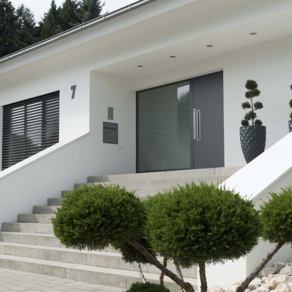 Haustür und Fenster